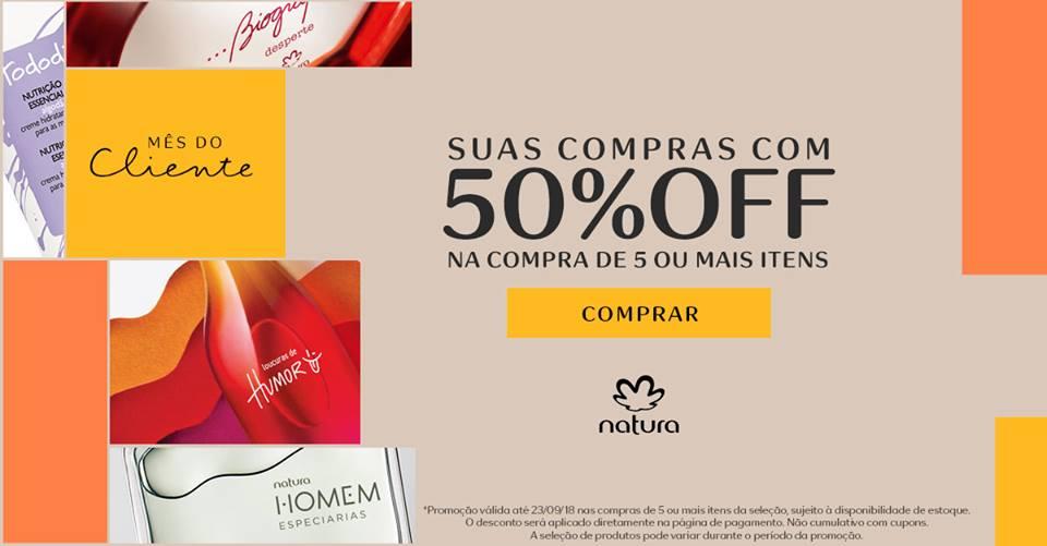 MEU ESPAÇO NATURA COM ATÉ 50% DE DESCONTO